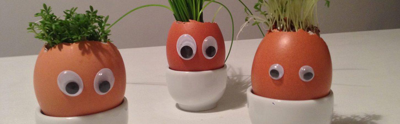 Basteln zu Ostern: Lustige Eierköpfe
